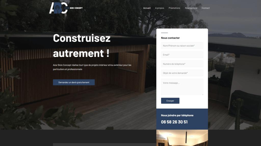site réalisation azur bois concept