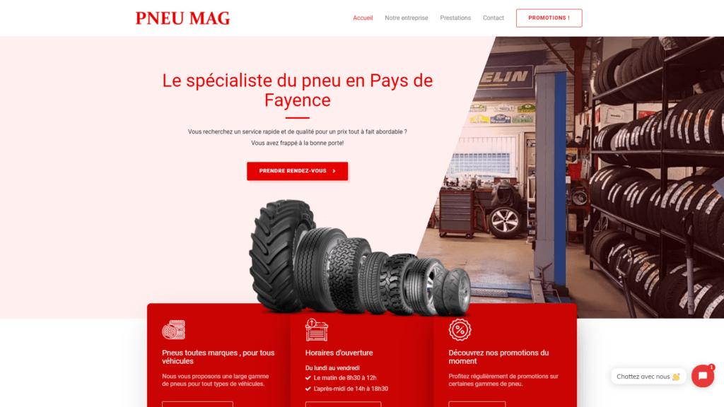 site réalisation pneu mag
