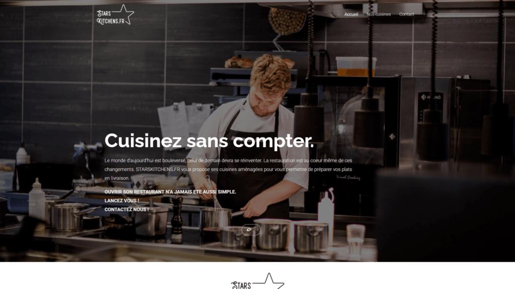 site réalisation starskitchen.fr